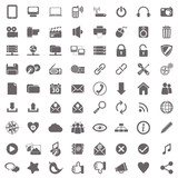Fototapety Web and computer basic icons