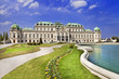 beautiful Belvedere castle, Vienna