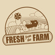 Fresh from the farm stamp