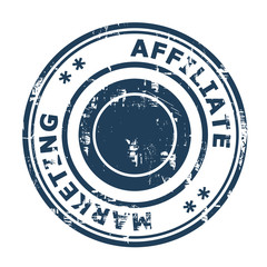 Affiliate marketing concept stamp