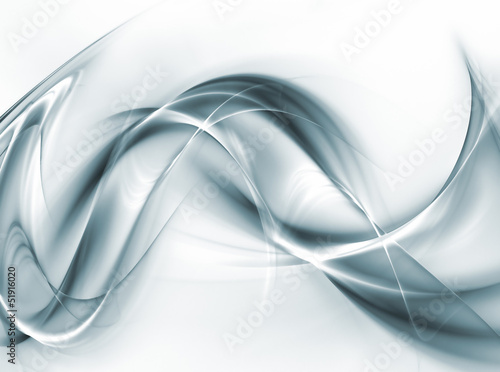 Elegant steel waves on white background