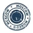Moscow travel stamp