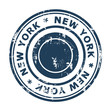 New York travel stamp