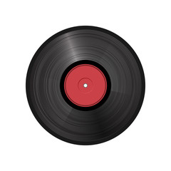 retro vinyl record - vector illustration