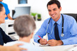 medical doctor consulting senior patient