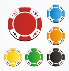blank poker chips vector