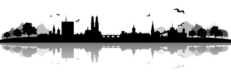 Urban Skyline of Zurich