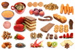 collection of different types of food