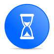 time blue circle web glossy icon
