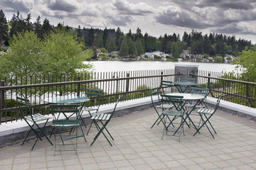 Garden Patio Seating by the Lake