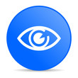 eye blue circle web glossy icon