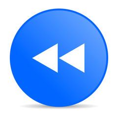scroll blue circle web glossy icon