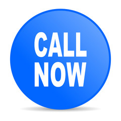call now blue circle web glossy icon