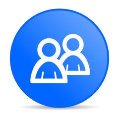 forum blue circle web glossy icon