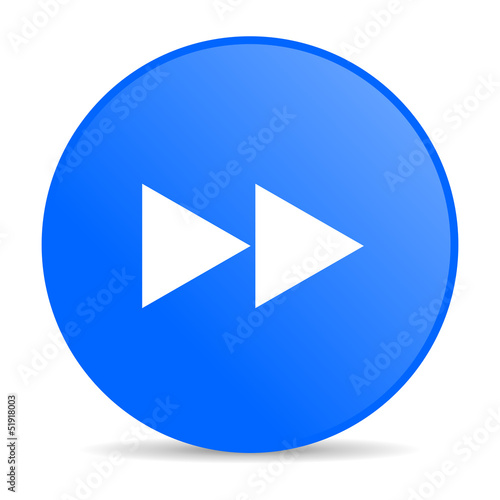 scroll blue circle web glossy icon