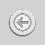 Gray glossy left arrow button