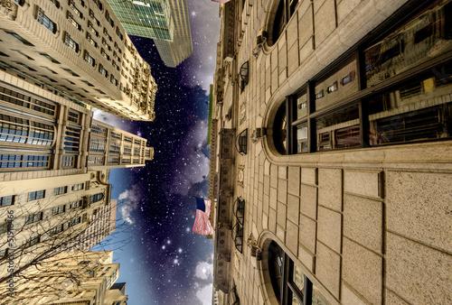 Manhattan, New York City. Wonderful night view of Tall Skyscrape - 51918466