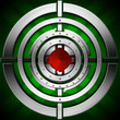 Target - Green Red and Metal Background