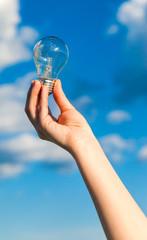 Holding a Bulb