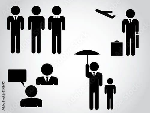 Silhouettes of businessman