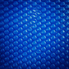 Blue Bubble-foil Background with Realistic Texture