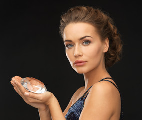 woman with big diamond