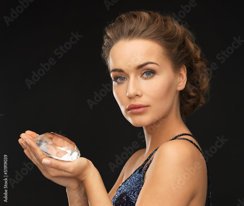 woman with big diamond