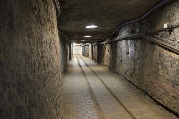 Underground tunnel in the Salt Mine