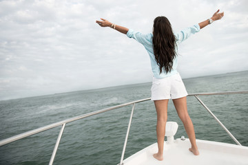 Woman enjoying sailing
