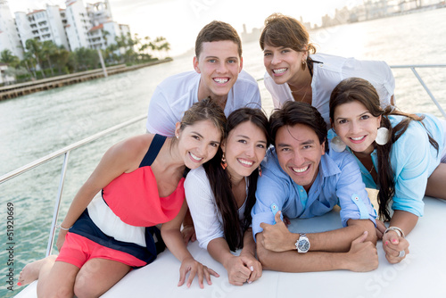 Group of people in a boat