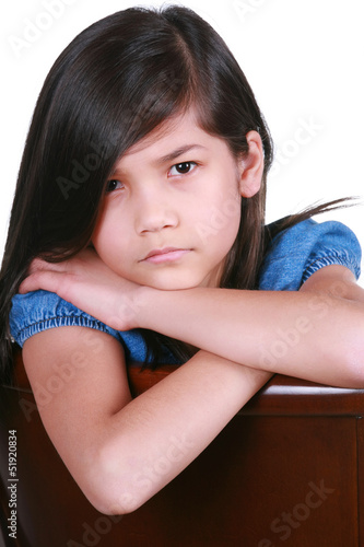 Angry young asian girl