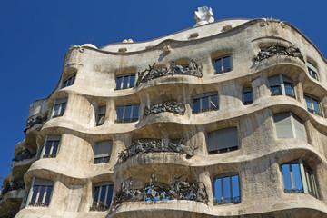 Casa Mila in Barcelona. Horizontally.