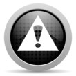 warning black circle web glossy icon