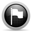 flag black circle web glossy icon
