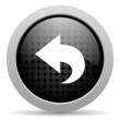 back black circle web glossy icon