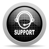 support black circle web glossy icon
