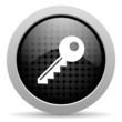 key black circle web glossy icon