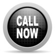 call now black circle web glossy icon