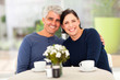 mature couple having tea