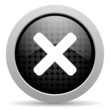cancel black circle web glossy icon