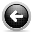 arrow left black circle web glossy icon