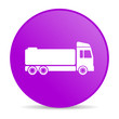 truck violet circle web glossy icon