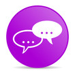 forum violet circle web glossy icon