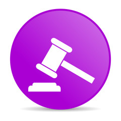 law violet circle web glossy icon