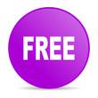 free violet circle web glossy icon