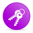 keys violet circle web glossy icon
