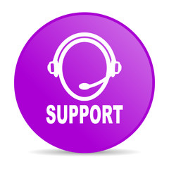 support violet circle web glossy icon