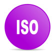 iso violet circle web glossy icon