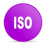 iso violet circle web glossy icon