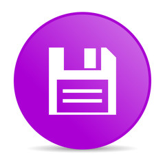 disk violet circle web glossy icon